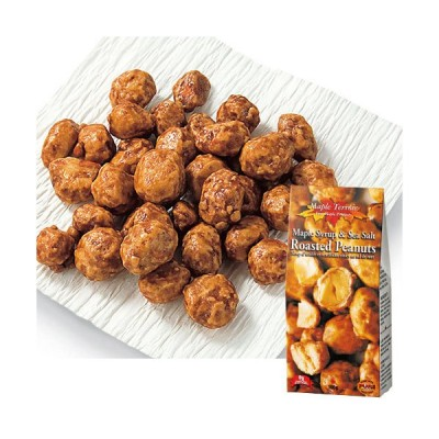カナダ お土産 メープルシロップ&シーソルトローストピーナツ3箱セット|ナッツ・豆菓子 アメリカ カナダ 南米 カナダ土産 お菓子