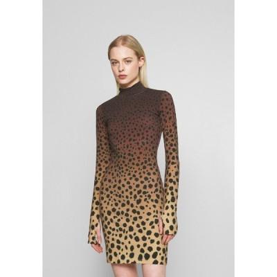 ハウスオブホーランド ワンピース レディース トップス CHEETAH MINI DRESS - Shift dress - brown multi