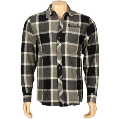 ザハンドレッズ The Hundreds メンズ シャツ トップス Strong Woven Long Sleeve Shirt black