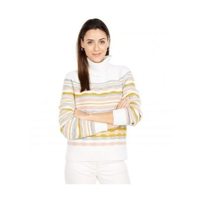 Lilla P リラP レディース 女性用 ファッション セーター Full Sleeve Multicolor Turtleneck Sweater - Ivory Multi