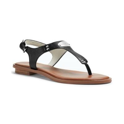 マイケル コース Michael Kors レディース サンダル・ミュール シューズ・靴 MK Plate Flat Thong Sandals Black
