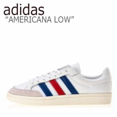 アディダス スニーカー adidas メンズ レディース AMERICANA LOW アメリカーナ ロウ ホワイト ブルー レッド EF2508 シューズ