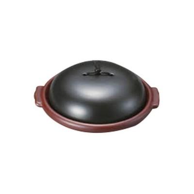 陶板 和食器 / ブラック&レッド7寸陶板(組) 寸法:20.8 x 18.6 x 6.5cm