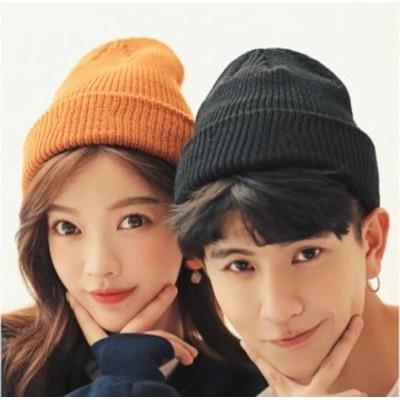 大人気 カップル 韓国風 新婚お祝い  ニット帽 防寒対策 ファッション 厚手 帽子 秋冬 男女兼用 カップル ニットキャップ