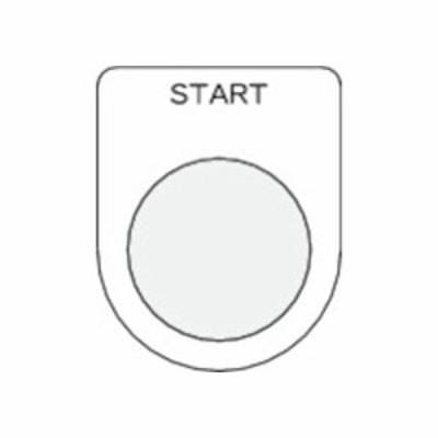 IM 押ボタン/セレクトスイッチ(メガネ銘板) START 黒 φ25.5 P25-35