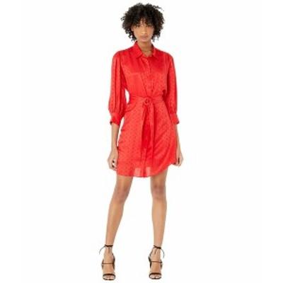 ザ・クープルス レディース ワンピース トップス Dark Floral Long Sleeve Mini Dress Black/Red