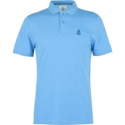 ウルリンガン ポロ 1875 Hurlingham Polo 1875 メンズ ポロシャツ トップス Polo Shirt Lake Blue