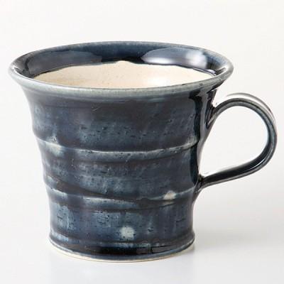 マグカップ 藍釉スパイラルマグ 陶器 業務用 美濃焼