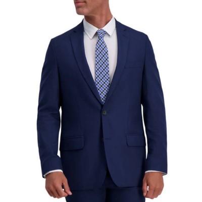ハガー メンズ ジャケット・ブルゾン アウター Men's Stretch Basket Weave Slim Fit 2 Button Side Vent Suit Separate Coat