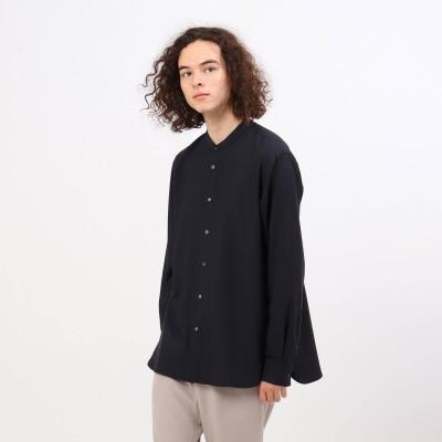 ティーケー タケオ キクチ tk.TAKEO KIKUCHI 【S~3L】TRバンドカラーシャツ(ユニセックスアイテム) (ネイビー)