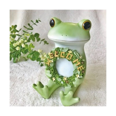 Copeau コポー ガーデン お座り WELCOME ウエルカム 小物 オブジェ カエル 置き物 置物 オブジェ 蛙 フロッグ FROG ガーデン雑貨  71760