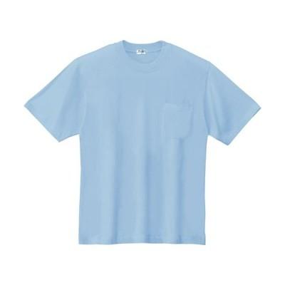 ジーベック(XEBEC) 半袖Tシャツ 42/サックス 35000 作業服 作業着 ワークウエア ワークウェア メンズ レディース