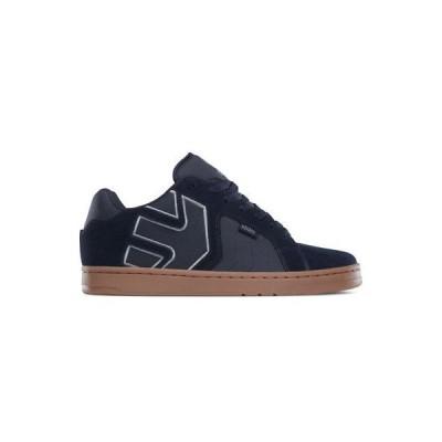 スニーカー エトニーズ Etnies Men's Fader 2 Low Top Shoes Navy Gray Gum Skate Skateboard Sneakers