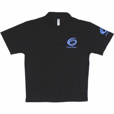 クレイジーオーシャン オリジナルドライポロシャツ ブラック M~LL (夏物 ポロシャツ メンズ)