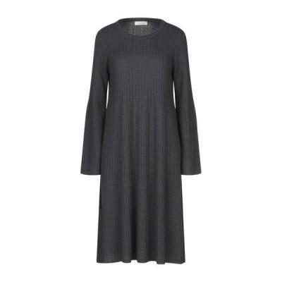 LE TRICOT PERUGIA ニットドレス ファッション  レディースファッション  ドレス、ブライダル  パーティドレス グレー
