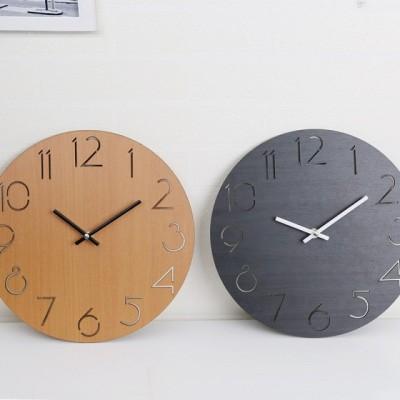 掛け時計  木製時計 おしゃれ 壁掛け時計 アナログ  ナチュラル 壁掛け時計 部屋装飾 プレゼント