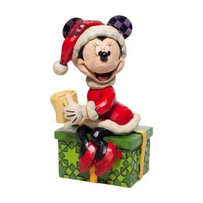 ミニー サンタ ホットココア 15.5cm ディズニー フィギュア 置物 グッズ トラディションズ 人形 雑貨 オブジェ ジム・ショア