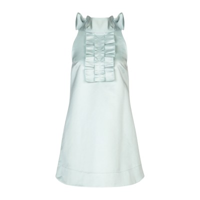 ALEXACHUNG ミニワンピース&ドレス ライトグリーン 14 ポリエステル 100% ミニワンピース&ドレス