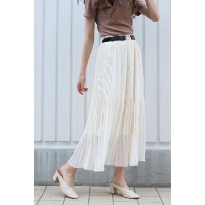 【ヴァンスシェアスタイル/VENCE share style】 ベルト付き消しプリーツスカート