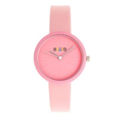 クラヨ メンズ 腕時計 アクセサリー Unisex Blade Pink Leatherette Strap Watch 37mm