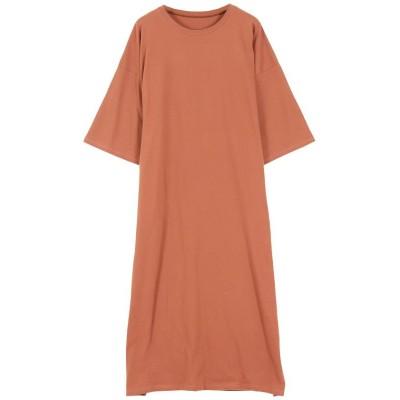 【神戸レタス】 Tシャツマキシワンピース [E2403] レディース オレンジ ワンサイズ(M) KOBE LETTUCE