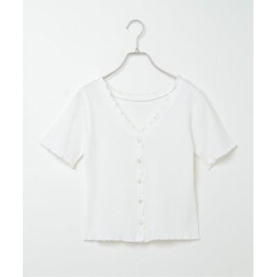 tシャツ Tシャツ 2WAYメローリブトップス