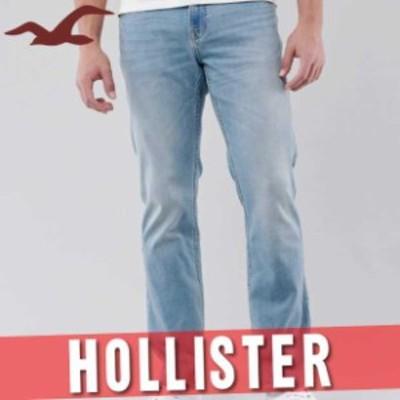 ホリスター アバクロ ジーンズ ジーパン デニムパンツ メンズ ブーツカット ウォッシュド加工 ズボン ボトムス 新作