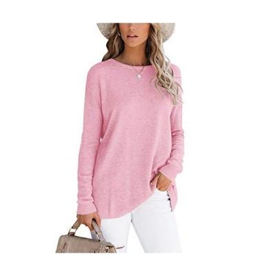 Minthunter Women's Oversized Pullover Sweater Long Sleeve Crew Neck Fall Kn