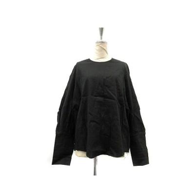 【中古】クラネ CLANE ブラウス シャツ 長袖 麻 リネン 1 黒 ブラック /AK24 レディース 【ベクトル 古着】