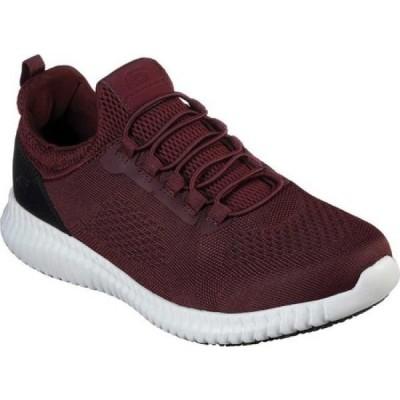 スケッチャーズ Skechers メンズ シューズ・靴 Work Relaxed Fit Cessnock Slip Resistant Shoe Burgundy