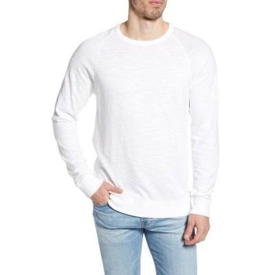 ファエティ Tシャツ トップス メンズ Slubbed Crewneck Sweatshirt White