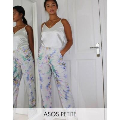 エイソス ASOS Petite レディース ボトムス・パンツ Petite straight leg suit trousers in floral print フローラル