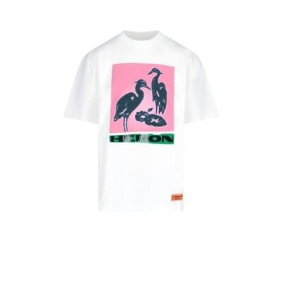 ヘロン プレストン メンズ Tシャツ トップス Heron Preston Graphic Print T-Shirt -