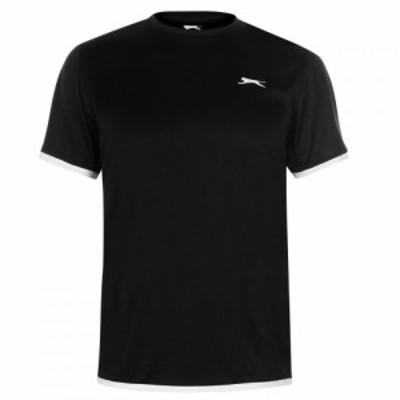 スラセンジャー Slazenger メンズ Tシャツ トップス Court T Shirt Black