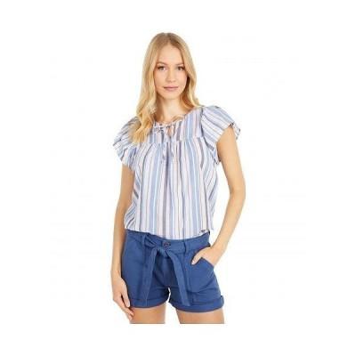Lucky Brand ラッキーブランド レディース 女性用 ファッション ブラウス Flutter Sleeve Peasant Top - Multi