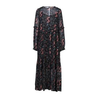 セミクチュール SEMICOUTURE ロングワンピース&ドレス ダークブルー 40 ポリエステル 100% ロングワンピース&ドレス
