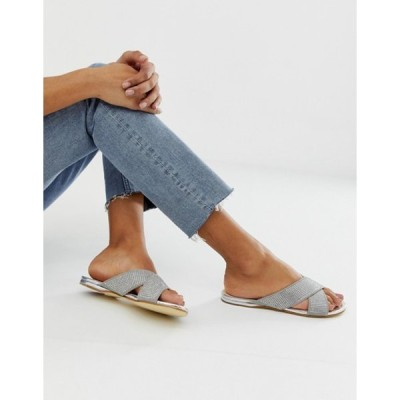 オフィス レディース サンダル シューズ OFFICE show off embellished flat sandals