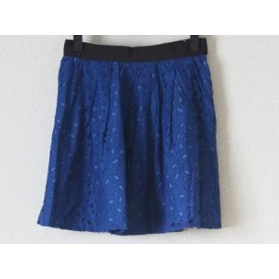 ラ トータリテ La TOTALITE スカート サイズ36 S レディース ネイビー×ブルー×黒【中古】