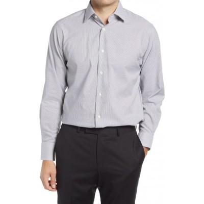 ノードストローム NORDSTROM メンズ シャツ トップス Traditional Fit Pinstripe Non-Iron Dress Shirt Grey Magnet