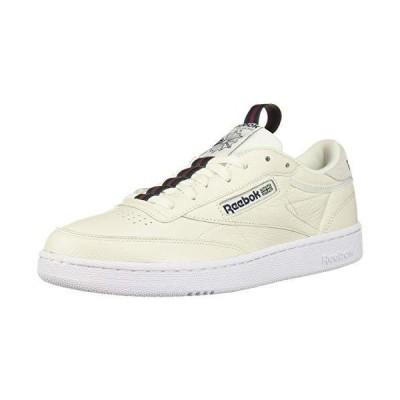 Reebok Men's Club C 85 Sneaker Chalk/Collegiate Navy/Dark Green/red/White 1