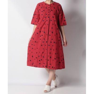 【アデュー・トリステス】 Summer Seed刺繍ワンピース レディース レッド系 38 ADIEU TRISTESSE