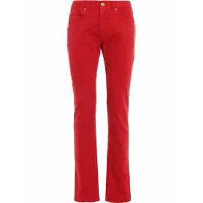Versace メンズデニム Versace Straight Leg Jeans A81k Rosso