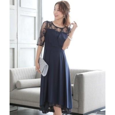 ドレス ビスチェ風バックリボンドレス ロングスカート/結婚式ワンピース・同窓会・成人式・セレモニー大きいサイズ対応フォーマルパーティードレス