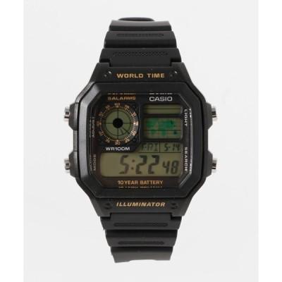 腕時計 CASIO カシオ/ スタンダード デジタルウォッチ AE-1200WH-1A AE-1200WH-1B クォーツ ラバーベルト