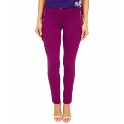 カルバンクライン レディース カジュアルパンツ ボトムス Straight Fit Pants Dark Purple