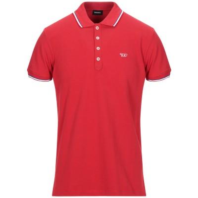 ディーゼル DIESEL ポロシャツ レッド S コットン 100% ポロシャツ