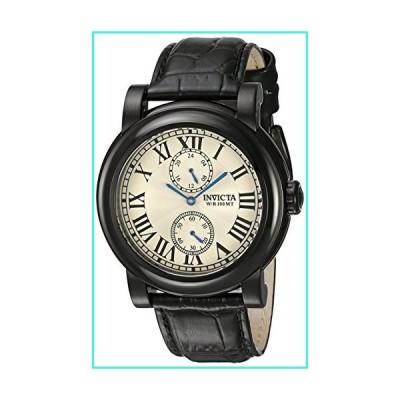 【新品】Invicta Men's I-Force Black Leather Band Steel Case Quartz Silver-Tone Dial Analog Watch 22257(並行輸入品)