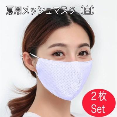 マスク メッシュマスク 選べる2枚セット 即納 UVカット 接触冷感 大人用 洗える 涼しい 薄手 送料無料 ファッションマスク スポーツ時も快適