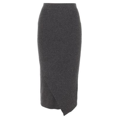 アリュード ALLUDE ロングスカート 鉛色 M バージンウール 70% / カシミヤ 30% ロングスカート