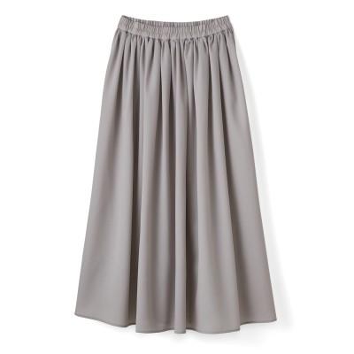ふんわりギャザースカート〈ライトグレー〉 フェリシモ FELISSIMO